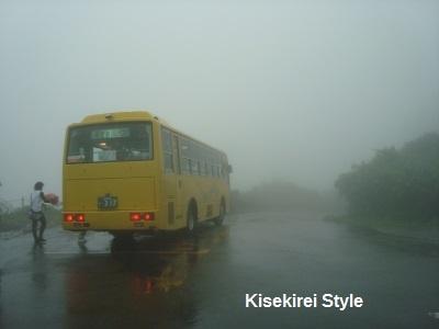 湯殿山バス帰り