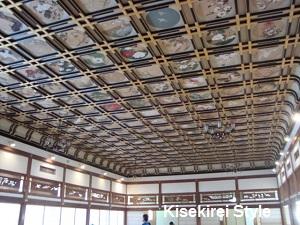 傘松閣の絵天井